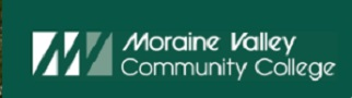 Moraine Valley Community College logo and website link